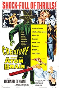 Richard Denning and Angela Stevens in Creature with the Atom Brain (1955)