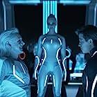 Michael Sheen, Garrett Hedlund, Beau Garrett, and Serinda Swan in Tron (2010)