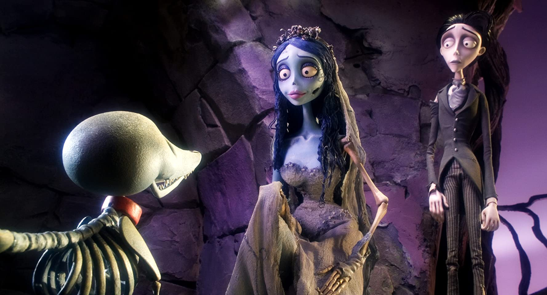Johnny Depp and Helena Bonham Carter in Corpse Bride (2005)