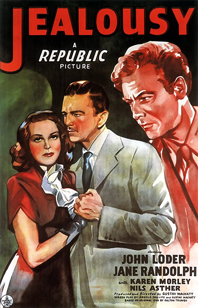 Nils Asther, John Loder, and Jane Randolph in Jealousy (1945)