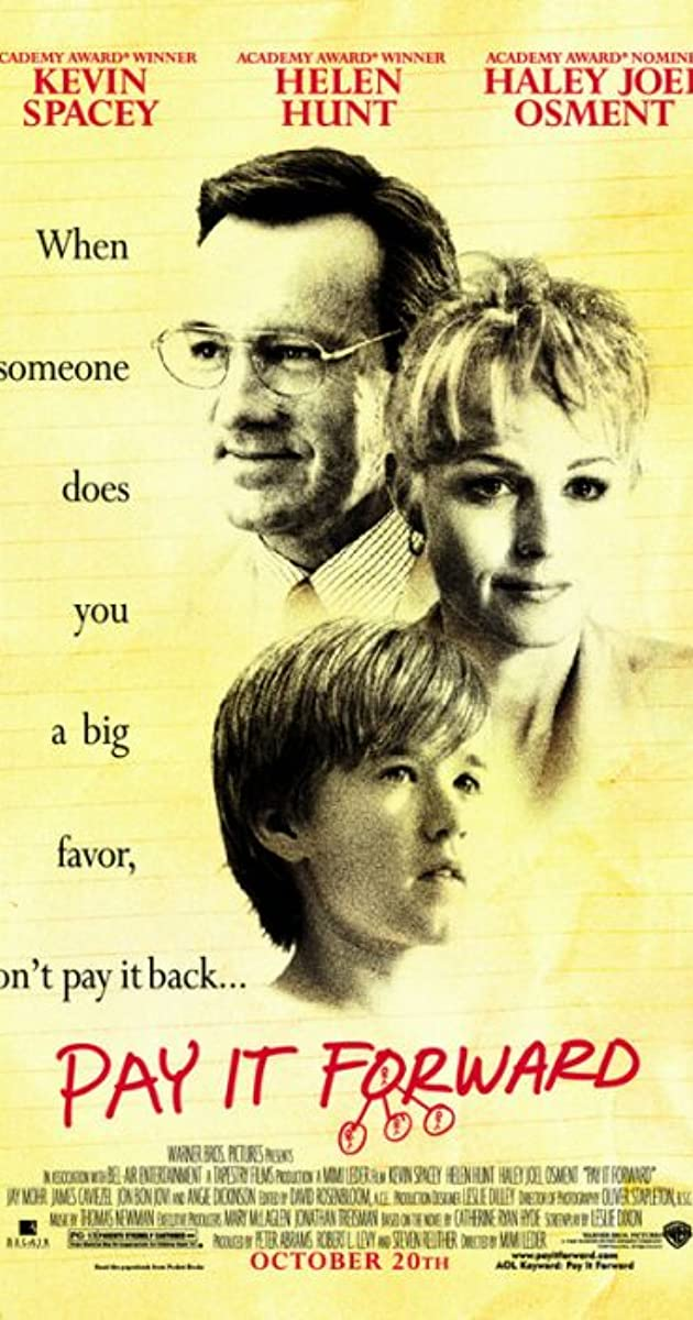 Pay It Forward 2000 Imdb