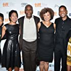 Will Smith, Danny Glover, Angela Davis, Shola Lynch, Jaden Smith, and Willow Smith at an event for Free Angela and All Political Prisoners (2012)