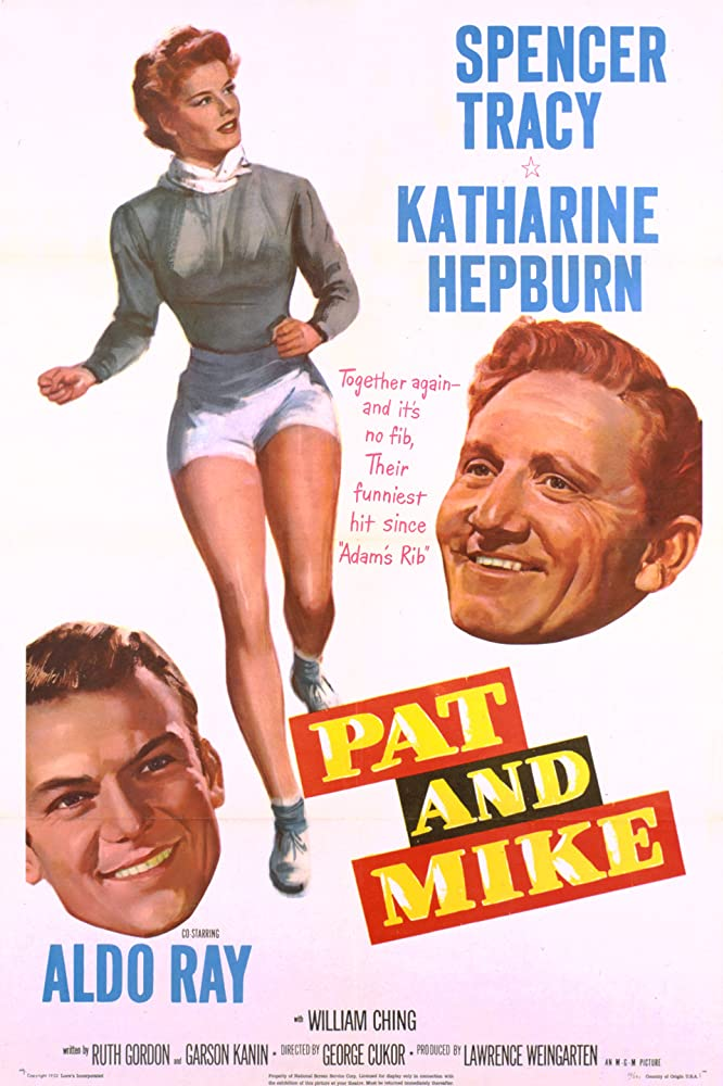 Katharine Hepburn, Spencer Tracy, and Aldo Ray in Pat and Mike (1952)