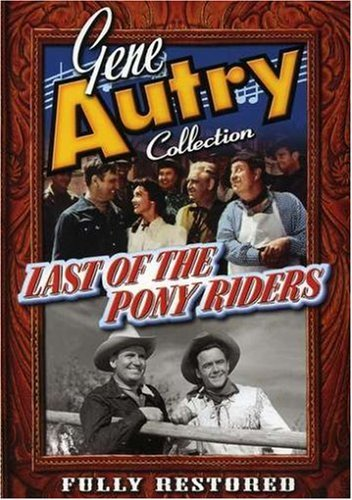 Gene Autry, Smiley Burnette, Kathleen Case, and Dickie Jones in Last of the Pony Riders (1953)