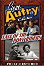 Last of the Pony Riders (1953) Poster