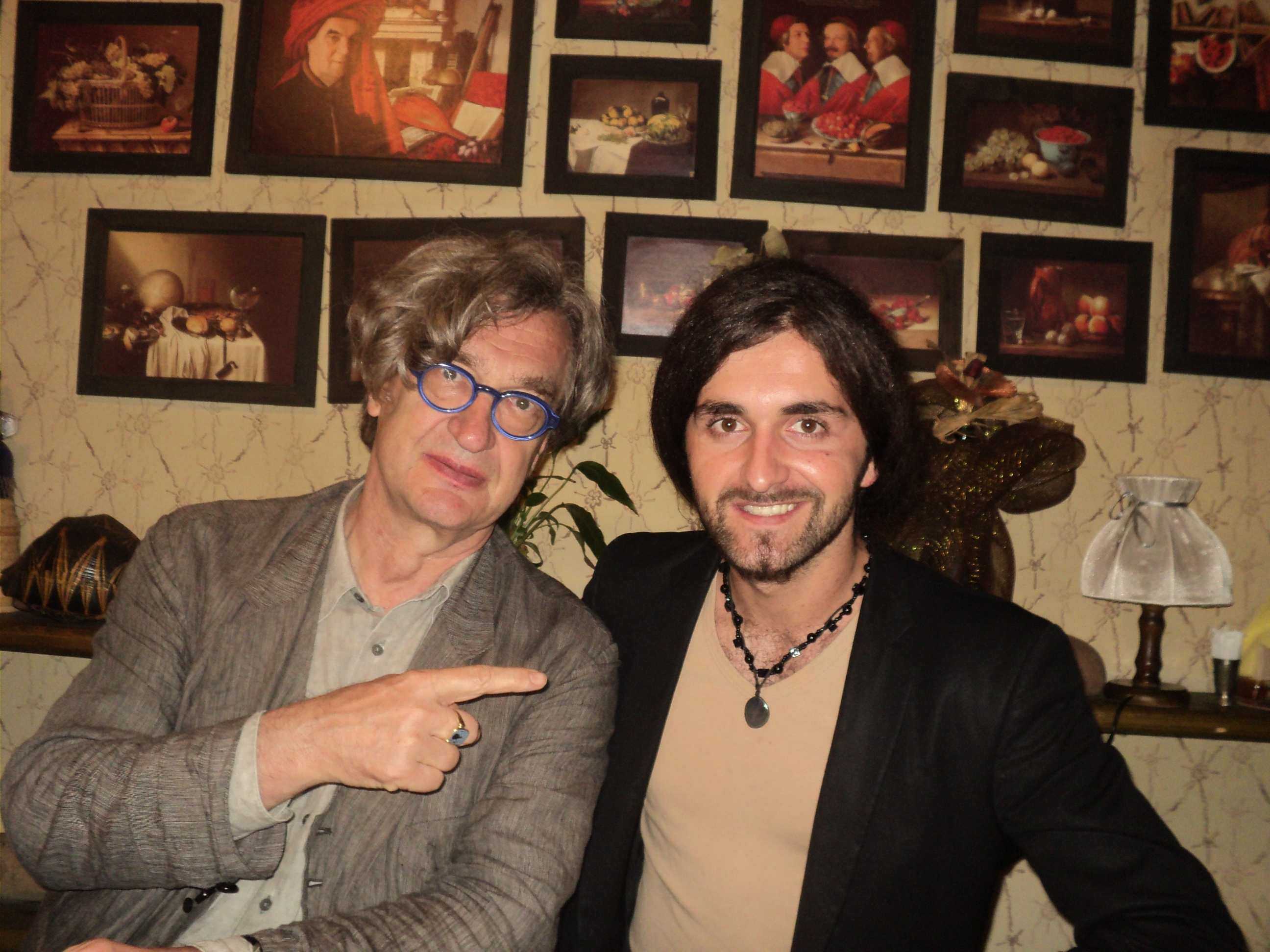Ado Hasnaovic with Wim Wenders during the Sarajevo Film Festival in 2012