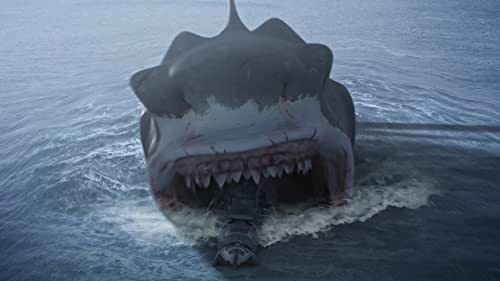 Crew members of a military vessel get more than they bargained for when they encounter a massive shark.