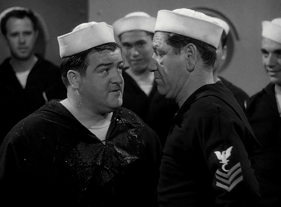 Bobby Barber, Lou Costello, Eddie Hall, Shemp Howard, and Ray Dixon in In the Navy (1941)