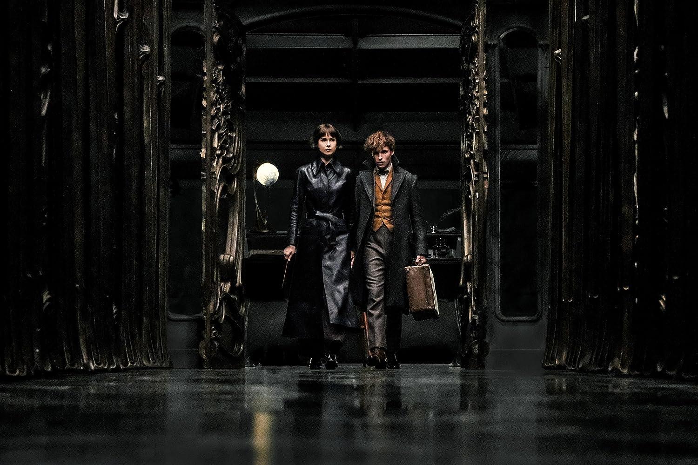 Eddie Redmayne and Katherine Waterston in Fantastic Beasts: The Crimes of Grindelwald (2018)