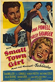 Jane Powell, Farley Granger, Ann Miller, and Bobby Van in Small Town Girl (1953)