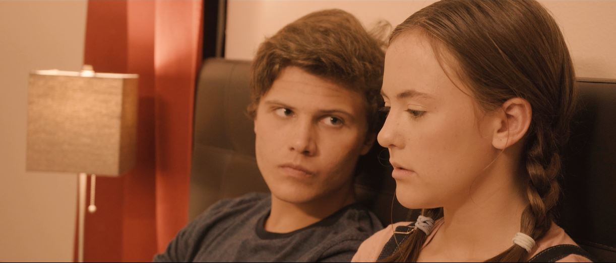 Ashlyn Jade Lopez and Clayton Royal Johnson in Caleb (2018)