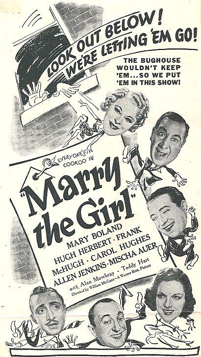 Hugh Herbert, Mischa Auer, Mary Boland, Carol Hughes, Allen Jenkins, Frank McHugh, and Alan Mowbray in Marry the Girl (1937)