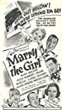 Marry the Girl (1937) Poster