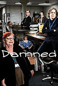 Jo Brand, Alan Davies, Kevin Eldon, and Himesh Patel in Damned (2016)