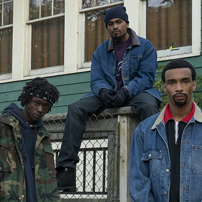 Julian Elijah Martinez, Ashton Sanders, and Dave East in Wu-Tang: An American Saga (2019)