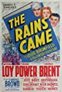 Tyrone Power, Myrna Loy, and George Brent in The Rains Came (1939)