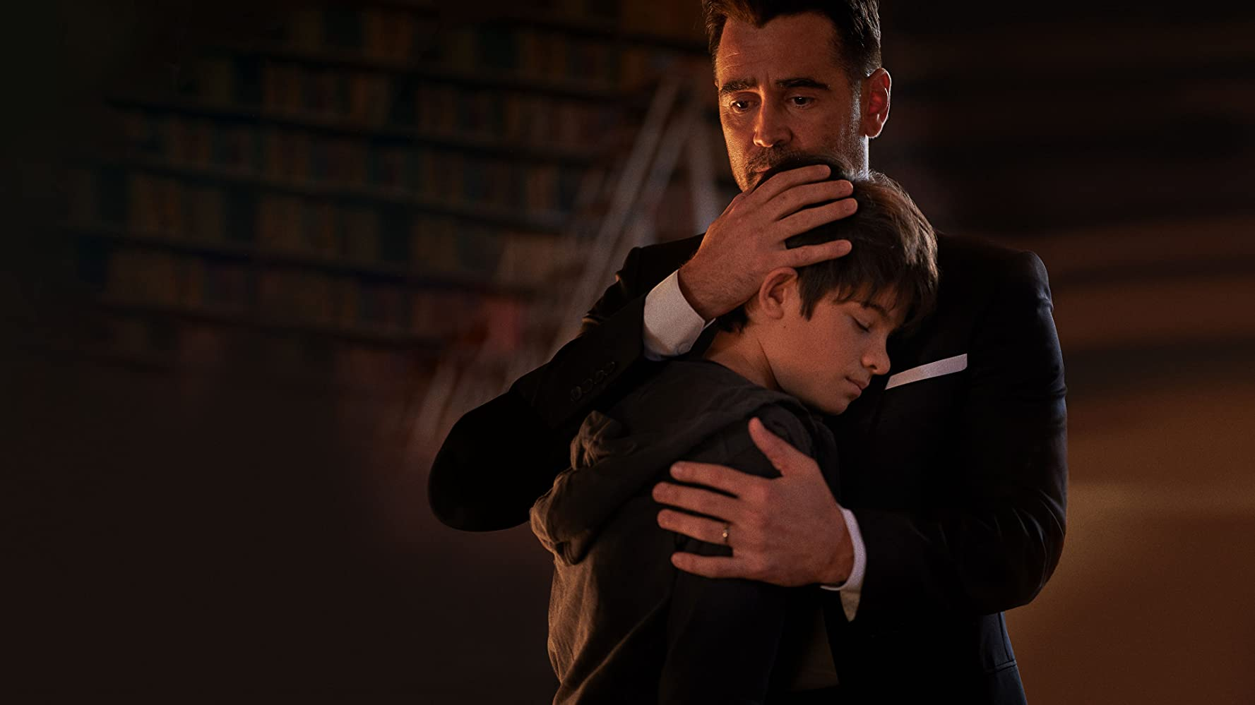 Colin Farrell and Ferdia Shaw in Artemis Fowl (2020)