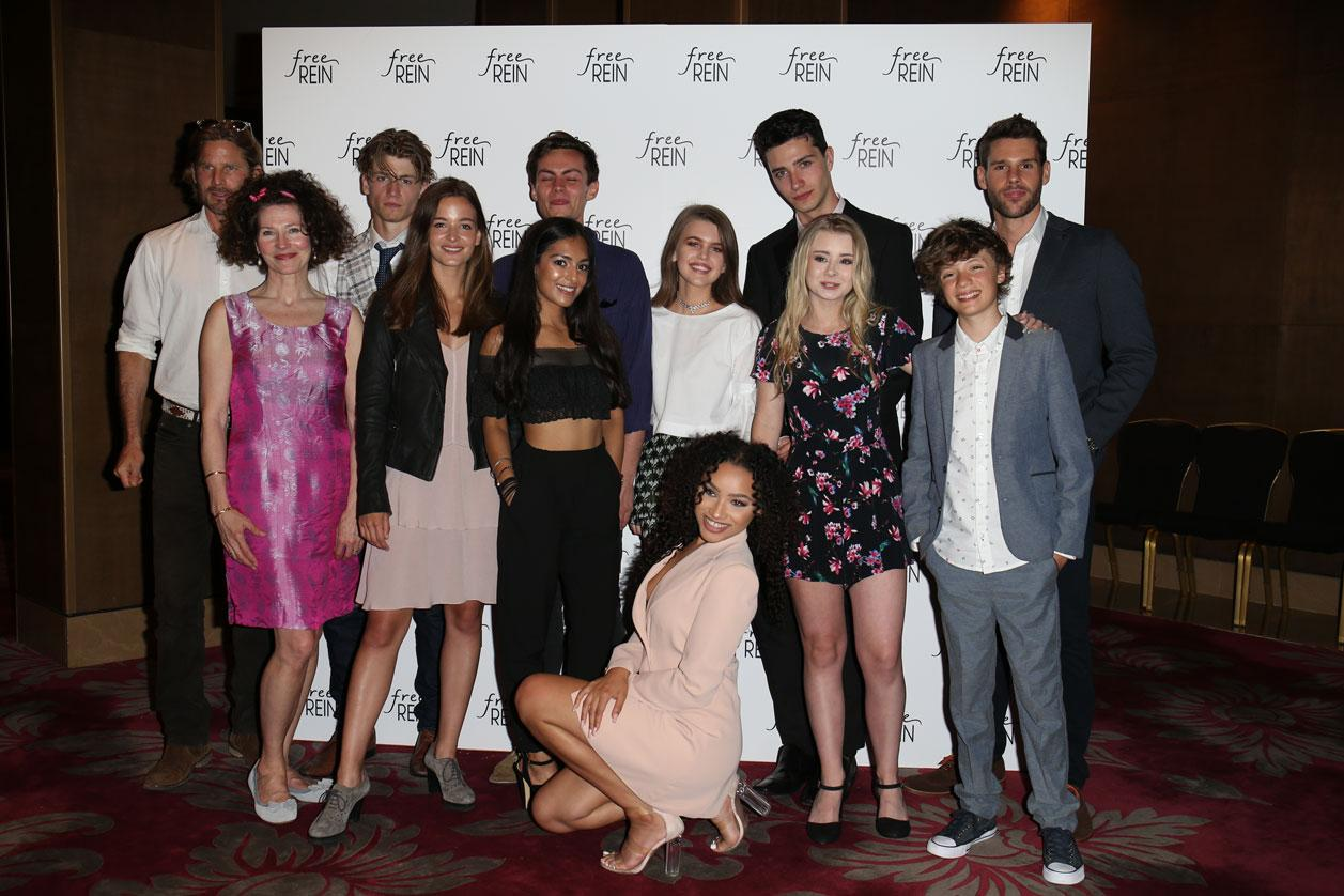 Holly Hayes and cast of Free Rein (Netflix)