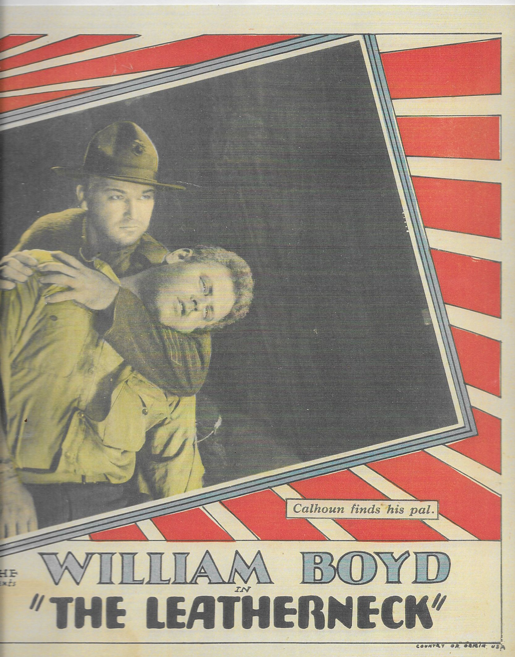 Alan Hale and William Boyd in The Leatherneck (1929)