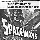Howard Duff and Eva Bartok in Spaceways (1953)