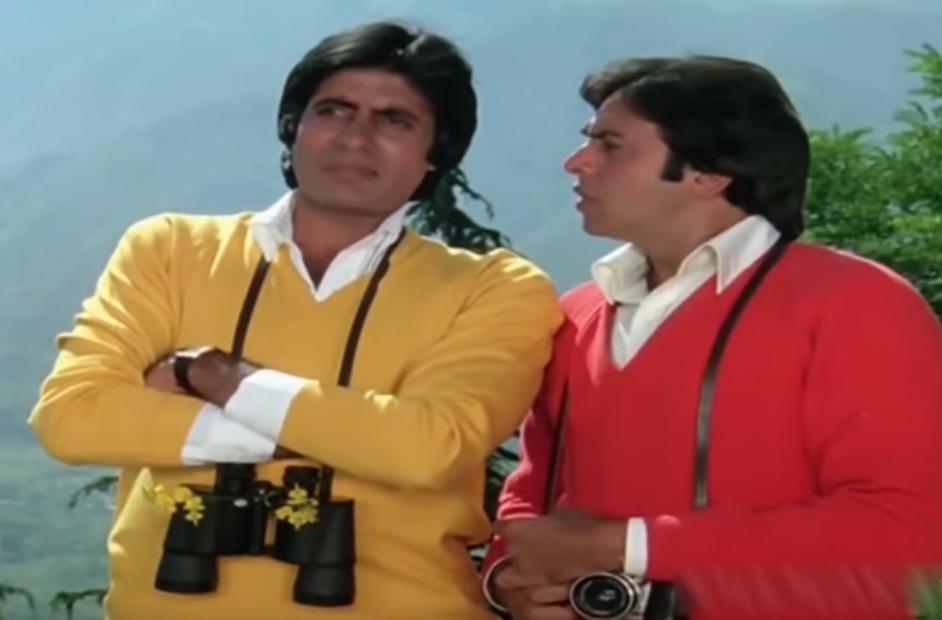 Amitabh Bachchan and Vinod Mehra in Bemisal (1982)