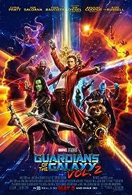 Vin Diesel, Bradley Cooper, Chris Pratt, Michael Rooker, Zoe Saldana, Dave Bautista, Karen Gillan, and Pom Klementieff in Guardians of the Galaxy Vol. 2 (2017)
