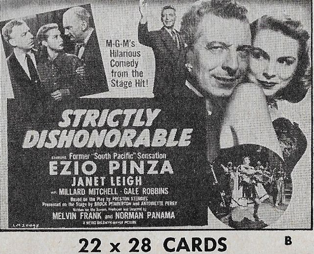 Janet Leigh, Millard Mitchell, and Ezio Pinza in Strictly Dishonorable (1951)