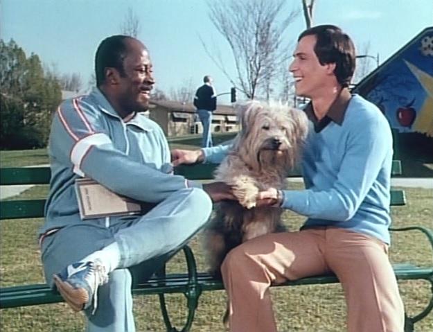 John Amos, Paul Regina, and Johnny the Dog in Here's Boomer (1980)