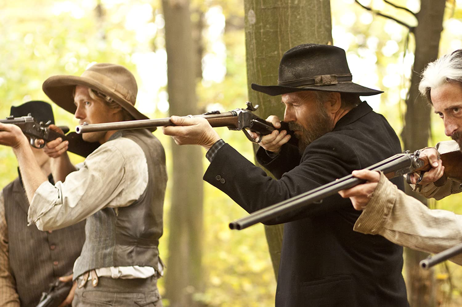 Kevin Costner, Matt Barr, and Andy Gathergood in Hatfields & McCoys (2012)