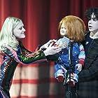 Brad Dourif, Alyvia Alyn Lind, and Zackary Arthur in Chucky (2021)