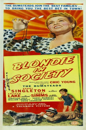 Arthur Lake, Larry Simms, and Penny Singleton in Blondie in Society (1941)