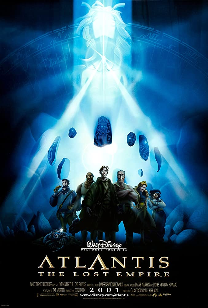 Michael J. Fox, Leonard Nimoy, James Garner, John Mahoney, David Ogden Stiers, Jim Varney, Jacqueline Obradors, Steven Barr, Corey Burton, Claudia Christian, Jim Cummings, Phil Morris, Don Novello, Patrick Pinney, Florence Stanley, Cree Summer, and Natalie Strom in Atlantis: The Lost Empire (2001)