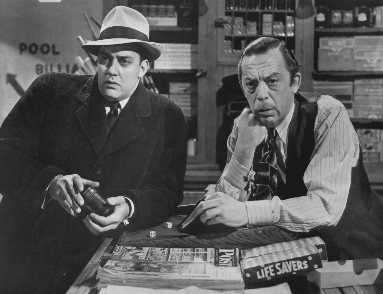 Raymond Burr and Edwin Max in Red Light (1949)