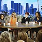 Calista Flockhart, Sara Gilbert, Julie Chen Moonves, Sharon Osbourne, Aisha Tyler, and Sheryl Underwood in Supergirl (2015)