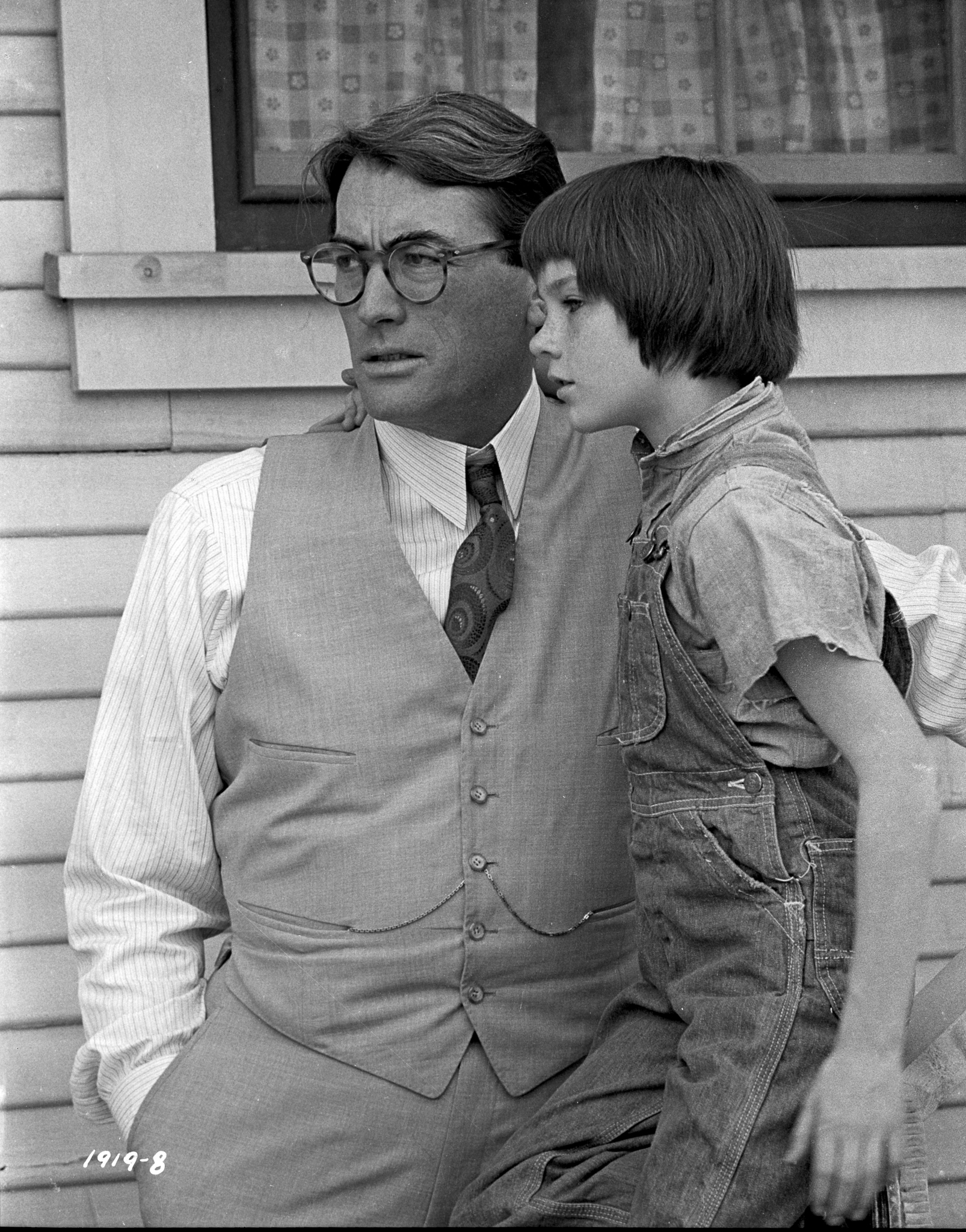 Gregory Peck and Mary Badham in To Kill a Mockingbird (1962)
