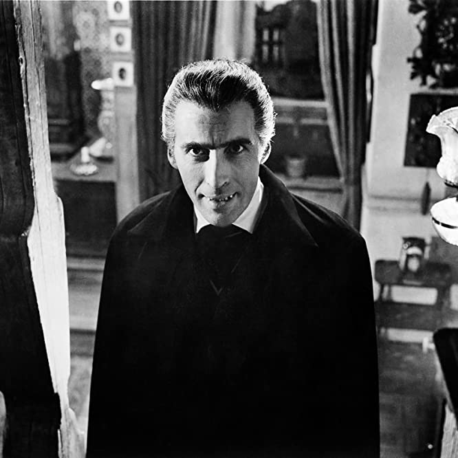 Christopher Lee at an event for Horror of Dracula (1958)