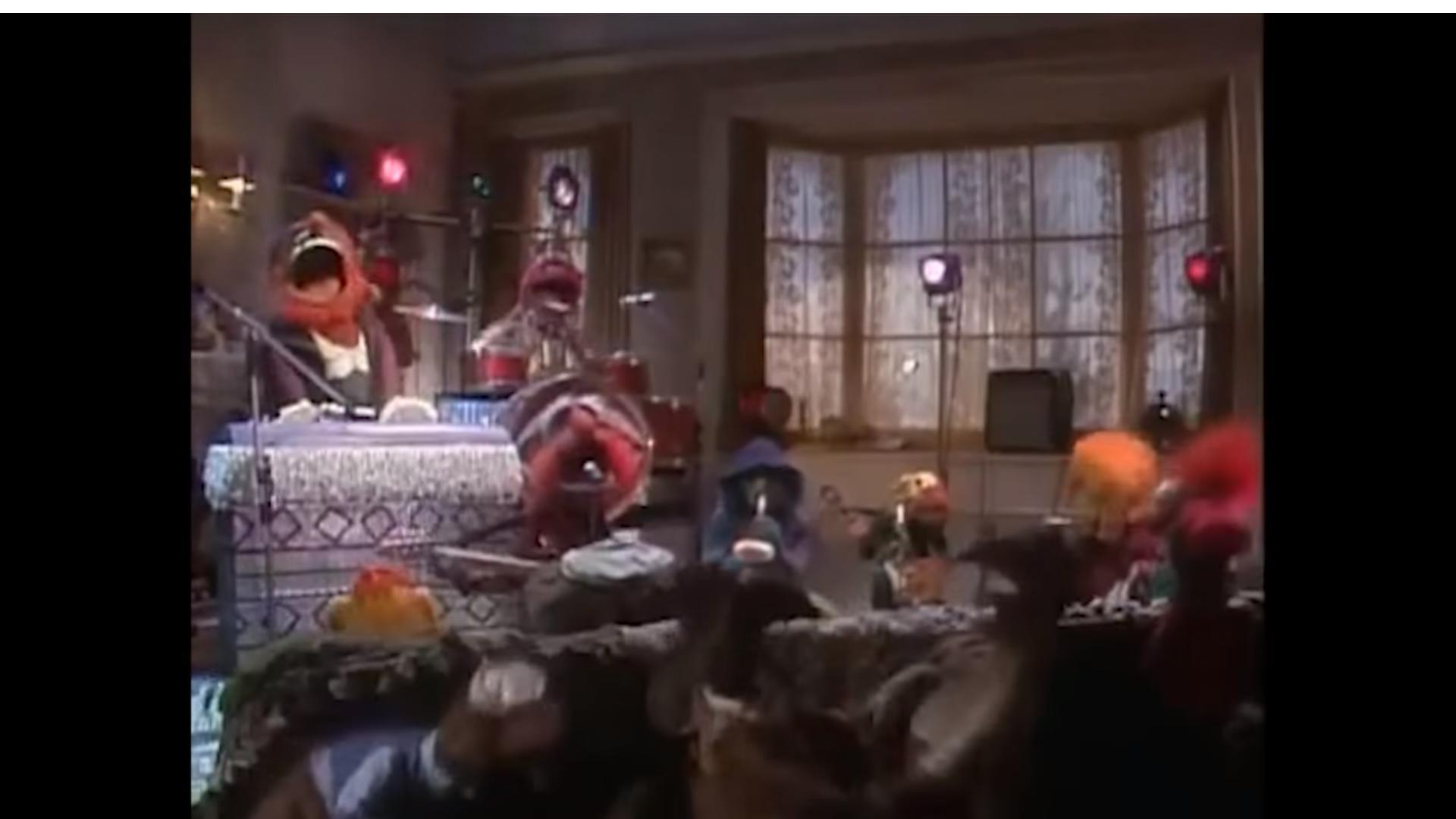 Frank Oz, Jim Henson, Richard Hunt, Jerry Nelson, and Steve Whitmire in A Muppet Family Christmas (1987)