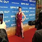 PiaGrace Moon at the Melbourne premiere of Spin Out (2016).