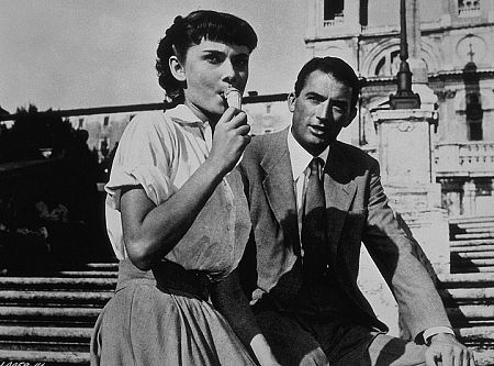 """9202-3 """"Roman Holiday"""" Audrey Hepburn and Gregory Peck"""