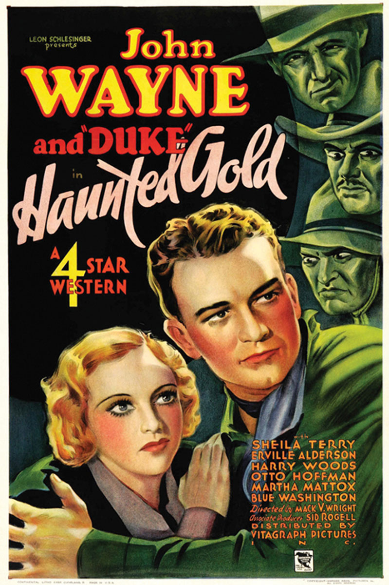 John Wayne and Sheila Terry in Haunted Gold (1932)