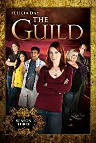 Felicia Day, Jeff Lewis, Vincent Caso, Sandeep Parikh, Amy Okuda, and Robin Thorsen in The Guild (2007)