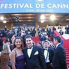 James Hergott and Stephanie Johnson on the red carpet at the 2005 Cannes International Film Festival.