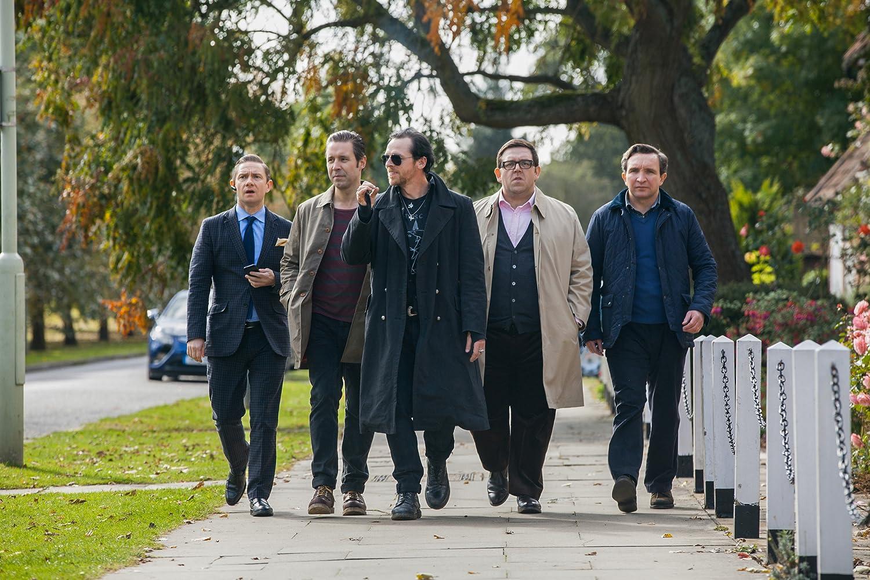 Paddy Considine, Martin Freeman, Nick Frost, Eddie Marsan, and Simon Pegg in The World's End (2013)