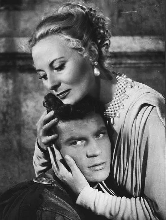 Michèle Morgan and Henri Vidal in Fabiola (1949)