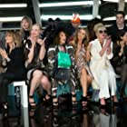 Sadie Frost, Lulu, Joanna Lumley, Jennifer Saunders, Abbey Clancy, Tinie Tempah, and Gwendoline Christie in Absolutely Fabulous: The Movie (2016)
