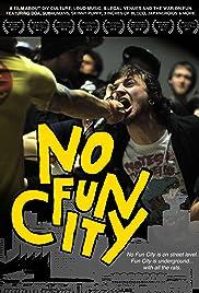 No Fun City Poster