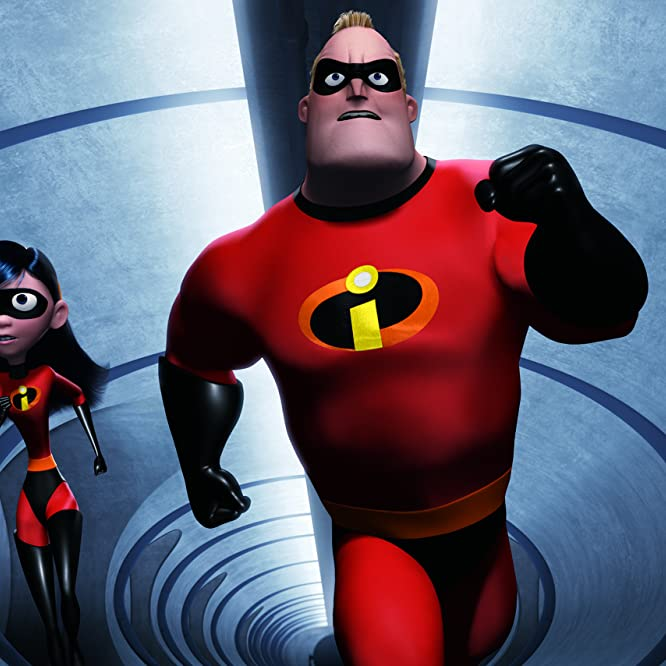 Holly Hunter, Craig T. Nelson, Sarah Vowell, and Spencer Fox in The Incredibles (2004)