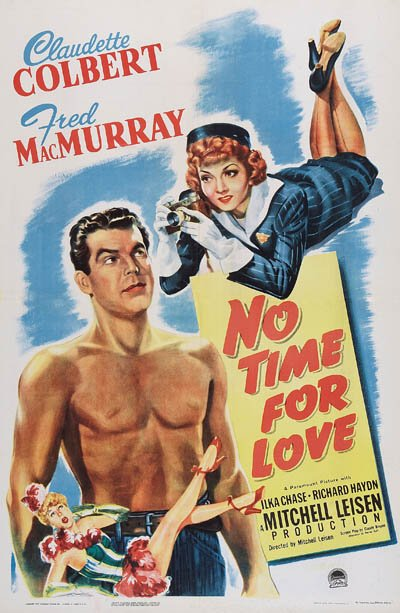 Claudette Colbert and Fred MacMurray in No Time for Love (1943)