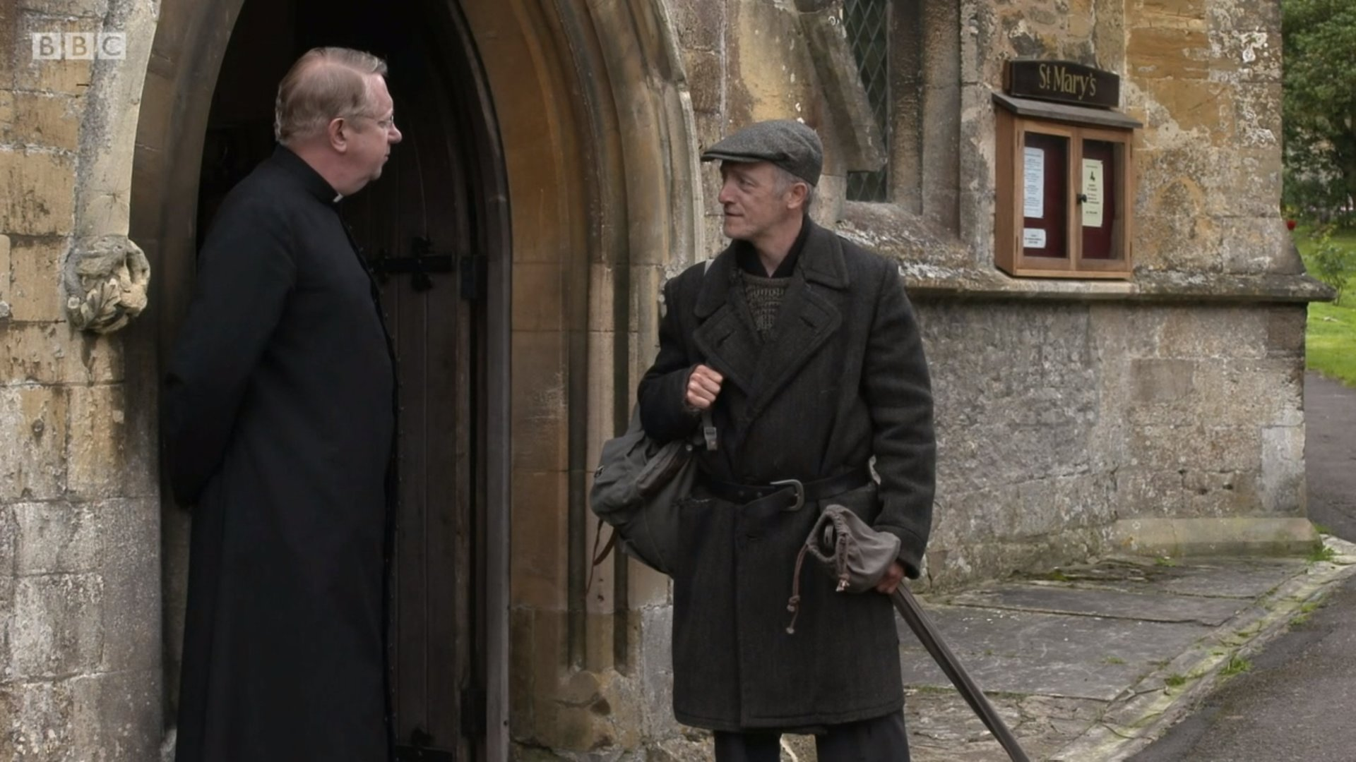 Mark Williams and Peter McNeil O'Connor in Father Brown (2013)