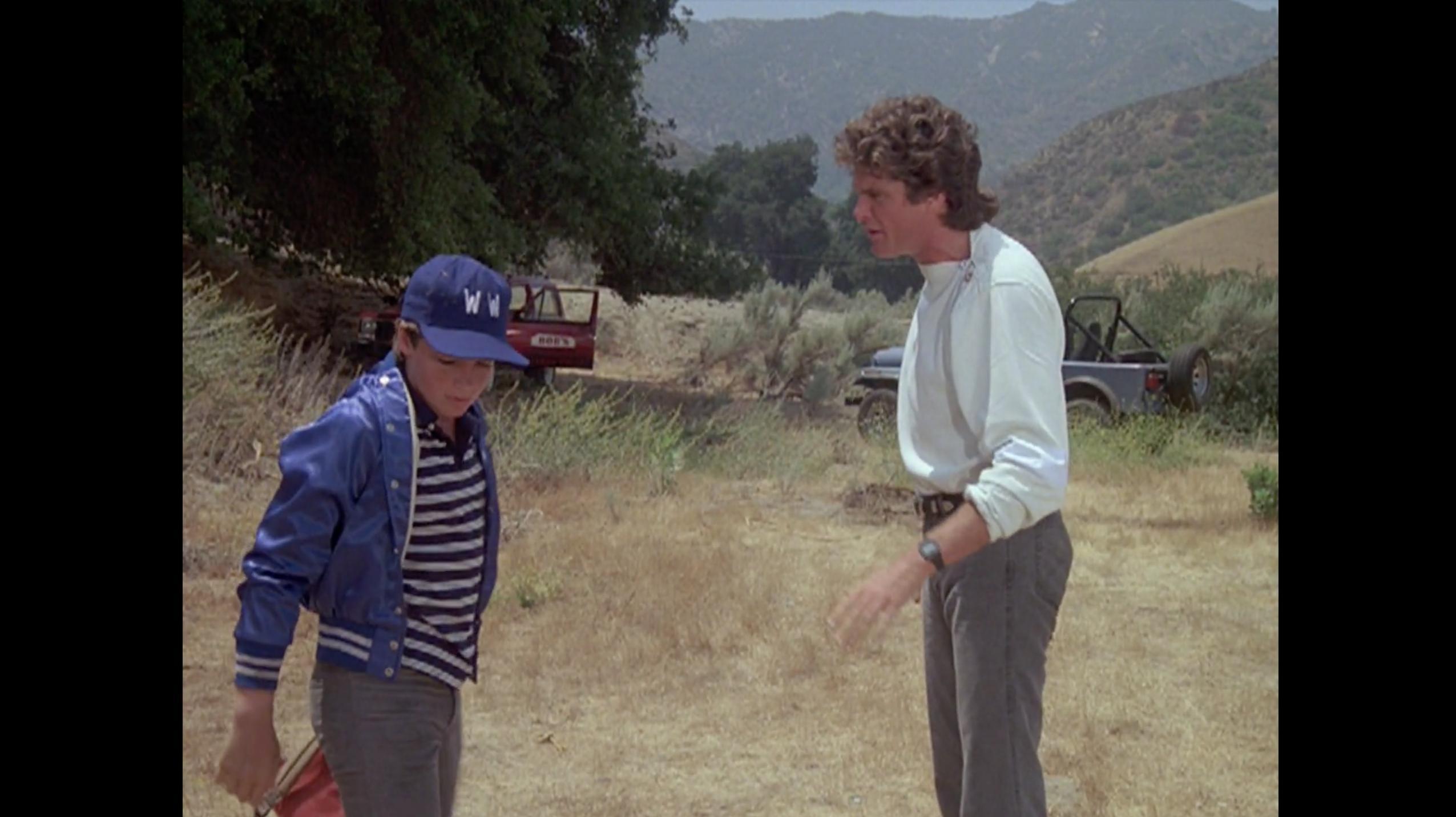 Jason Bateman and David Hasselhoff in Knight Rider (1982)